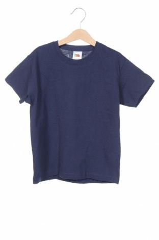 Детска тениска Fruit Of The Loom, Размер 5-6y/ 116-122 см, Цвят Син, Памук, Цена 11,50лв.