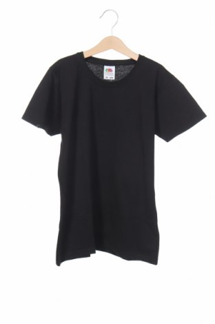 Детска тениска Fruit Of The Loom, Размер 13-14y/ 164-168 см, Цвят Черен, Памук, Цена 11,50лв.