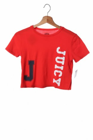 Dětské tričko  Juicy Couture, Velikost 7-8y/ 128-134 cm, Barva Červená, 100% bavlna, Cena  178,00Kč