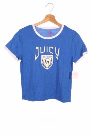 Детска тениска Juicy Couture, Размер 14-15y/ 168-170 см, Цвят Син, 55% памук, 45% модал, Цена 3,00лв.
