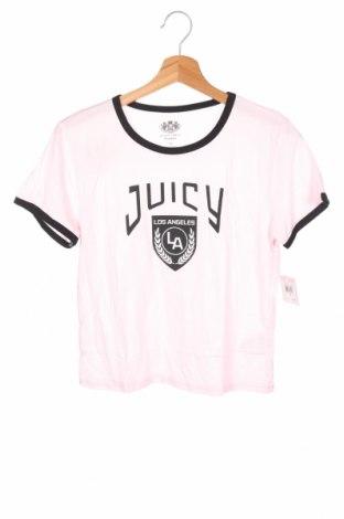 Dětské tričko  Juicy Couture, Velikost 14-15y/ 168-170 cm, Barva Růžová, 55% bavlna, 45% modal, Cena  178,00Kč