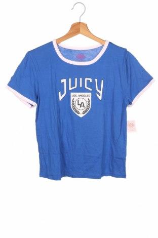 Детска тениска Juicy Couture, Размер 15-18y/ 170-176 см, Цвят Син, 55% памук, 45% модал, Цена 31,85лв.