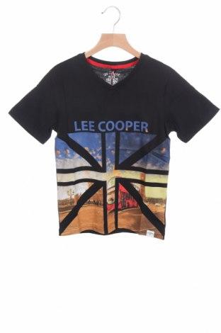 Детска тениска Lee Cooper, Размер 8-9y/ 134-140 см, Цвят Черен, Памук, Цена 14,50лв.