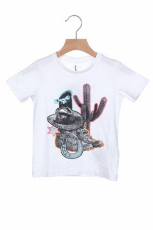Παιδικό μπλουζάκι Name It, Μέγεθος 18-24m/ 86-98 εκ., Χρώμα Λευκό, 95% βαμβάκι, 5% ελαστάνη, Τιμή 6,43€