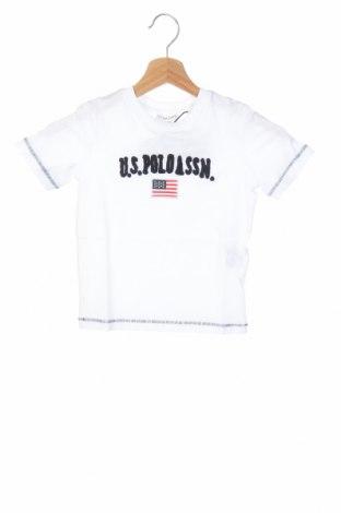Παιδικό μπλουζάκι U.S. Polo Assn., Μέγεθος 2-3y/ 98-104 εκ., Χρώμα Λευκό, Βαμβάκι, Τιμή 10,04€