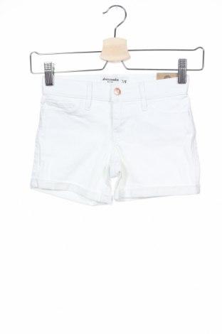 Παιδικό κοντό παντελόνι Abercrombie Kids, Μέγεθος 7-8y/ 128-134 εκ., Χρώμα Λευκό, 98% βαμβάκι, 2% ελαστάνη, Τιμή 13,27€
