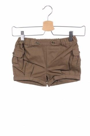 Детски къс панталон Gocco, Размер 3-4y/ 104-110 см, Цвят Зелен, 90% памук, 10% еластан, Цена 3,55лв.