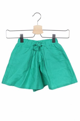 Детски къс панталон Grain De Ble, Размер 18-24m/ 86-98 см, Цвят Зелен, 53% лен, 47% памук, Цена 16,20лв.