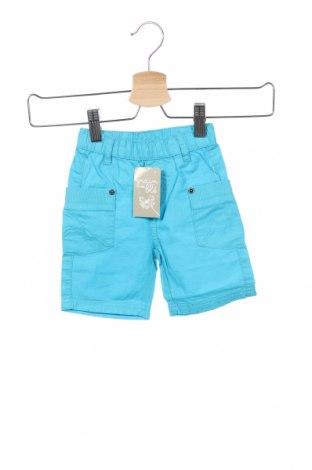 Детски къс панталон Grain De Ble, Размер 6-9m/ 68-74 см, Цвят Син, Памук, Цена 16,20лв.