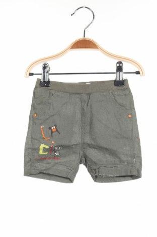 Παιδικό κοντό παντελόνι La Compagnie des Petits, Μέγεθος 3-6m/ 62-68 εκ., Χρώμα Πράσινο, 58% λινό, 42% βαμβάκι, Τιμή 4,08€