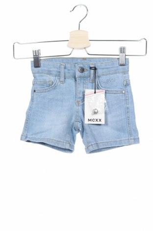 Παιδικό κοντό παντελόνι Mexx, Μέγεθος 18-24m/ 86-98 εκ., Χρώμα Μπλέ, 98% βαμβάκι, 2% ελαστάνη, Τιμή 12,73€
