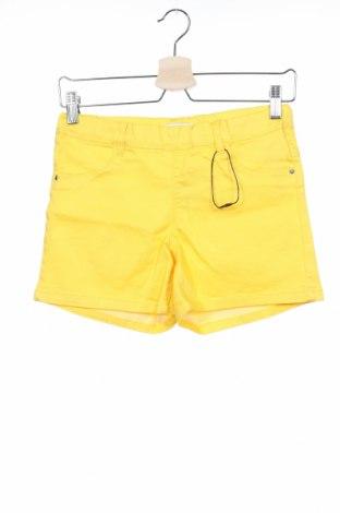 Παιδικό κοντό παντελόνι Name It, Μέγεθος 13-14y/ 164-168 εκ., Χρώμα Κίτρινο, 68% βαμβάκι, 29% πολυεστέρας, 3% ελαστάνη, Τιμή 7,54€