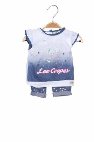 Детски комплект Lee Cooper, Размер 2-3m/ 56-62 см, Цвят Син, 35% памук, 65% полиестер, Цена 36,75лв.