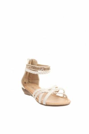 Детски сандали, Размер 27, Цвят Бял, Еко кожа, Цена 13,65лв.