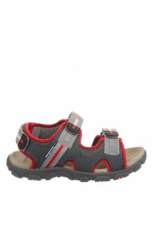 Детски сандали Geox, Размер 35, Цвят Сив, Текстил, еко кожа, Цена 78,40лв.