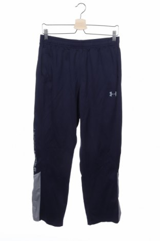 Pantaloni de trening, pentru copii Under Armour, Mărime 12-13y/ 158-164 cm, Culoare Albastru, Poliester, Preț 59,19 Lei