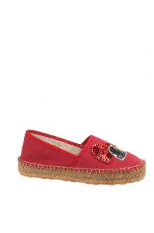 Εσπάδριλλες Love Moschino, Μέγεθος 38, Χρώμα Κόκκινο, Κλωστοϋφαντουργικά προϊόντα, Τιμή 89,85€