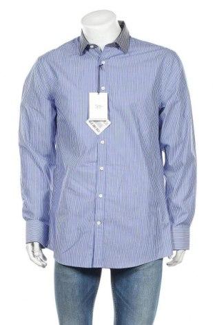 Ανδρικό πουκάμισο Tiger Of Sweden, Μέγεθος XL, Χρώμα Μπλέ, Βαμβάκι, Τιμή 32,51€