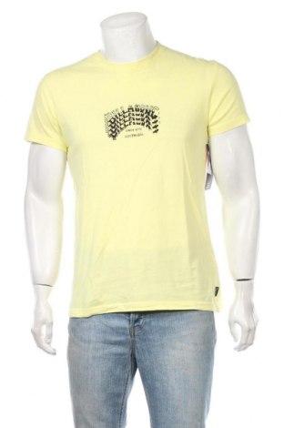 Ανδρικό t-shirt Billabong, Μέγεθος S, Χρώμα Κίτρινο, Βαμβάκι, Τιμή 9,60€