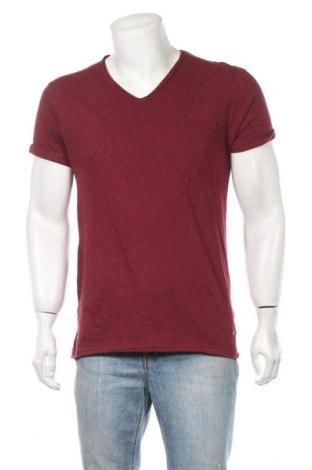Мъжка тениска Eleven Paris, Размер L, Цвят Червен, 98% памук, 2% полиестер, Цена 24,15лв.