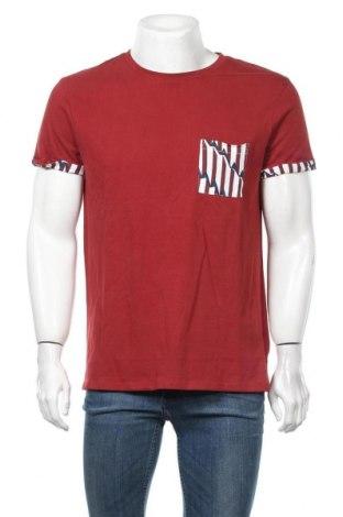 Мъжка тениска Eleven Paris, Размер M, Цвят Червен, Памук, Цена 24,15лв.