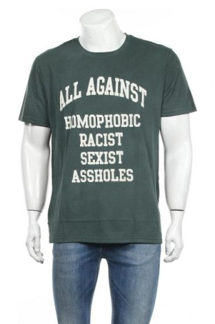 Мъжка тениска Eleven Paris, Размер XL, Цвят Зелен, Памук, Цена 24,15лв.