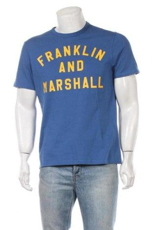 Мъжка тениска Franklin & Marshall, Размер M, Цвят Син, Памук, Цена 27,00лв.