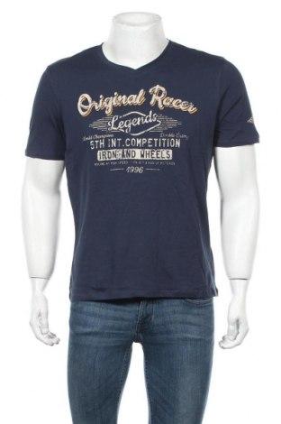 Ανδρικό t-shirt Kitaro, Μέγεθος M, Χρώμα Μπλέ, Βαμβάκι, Τιμή 14,02€
