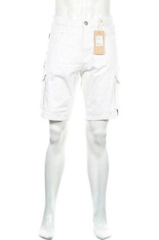 Мъжки къс панталон American People, Размер XL, Цвят Бял, 98% памук, 2% еластан, Цена 43,12лв.