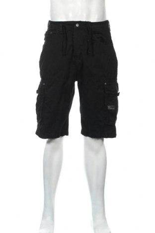 Ανδρικό κοντό παντελόνι Crosshatch, Μέγεθος L, Χρώμα Μαύρο, Βαμβάκι, Τιμή 18,14€