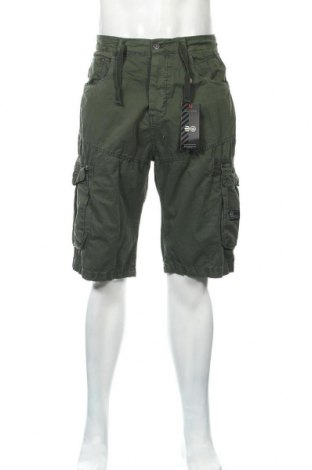 Ανδρικό κοντό παντελόνι Crosshatch, Μέγεθος L, Χρώμα Πράσινο, Βαμβάκι, Τιμή 18,14€