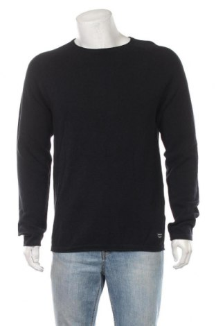 Мъжки пуловер Jack & Jones, Размер L, Цвят Син, Памук, Цена 17,02лв.
