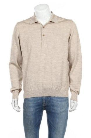 Ανδρικό πουλόβερ Maerz Muenchen, Μέγεθος L, Χρώμα  Μπέζ, Μαλλί, Τιμή 25,05€