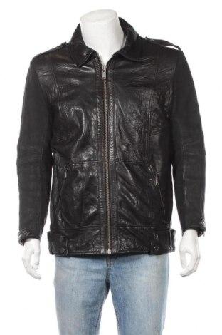 Ανδρικό δερμάτινο μπουφάν Andrew Marc, Μέγεθος L, Χρώμα Μαύρο, Γνήσιο δέρμα, Τιμή 60,79€