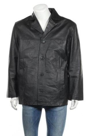 Мъжко кожено яке Angelo Litrico, Размер XL, Цвят Черен, Естествена кожа, Цена 14,84лв.