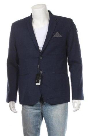 Ανδρικό σακάκι Top Secret, Μέγεθος L, Χρώμα Μπλέ, 55% λινό, 45% βαμβάκι, Τιμή 12,27€