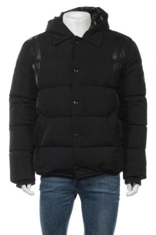 Ανδρικό μπουφάν Just Cavalli, Μέγεθος L, Χρώμα Μαύρο, Φτερά και πούπουλα, πολυεστέρας, Τιμή 270,23€