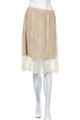 Φούστα Lauren Vidal, Μέγεθος S, Χρώμα  Μπέζ, Πολυαμίδη, Τιμή 12,27€