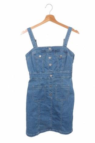 Φόρεμα Amisu, Μέγεθος XS, Χρώμα Μπλέ, 80% βαμβάκι, 19% πολυεστέρας, 1% ελαστάνη, Τιμή 11,86€