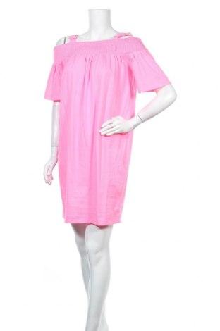 Рокля Love Moschino, Размер M, Цвят Розов, Памук, Цена 378,87лв.