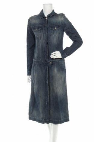 Φόρεμα TWINSET, Μέγεθος M, Χρώμα Μπλέ, 60% βαμβάκι, 40% λινό, Τιμή 49,90€