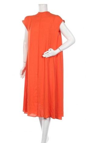 Рокля Weekday, Размер S, Цвят Оранжев, Полиестер, Цена 61,62лв.