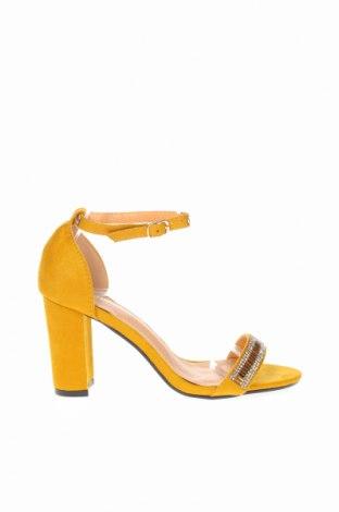 Σανδάλια JM.Diamant, Μέγεθος 38, Χρώμα Κίτρινο, Κλωστοϋφαντουργικά προϊόντα, Τιμή 23,12€