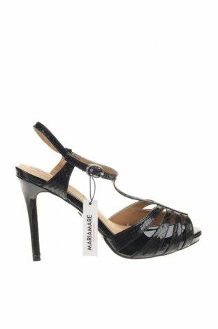 Sandale Maria Mare, Mărime 39, Culoare Negru, Piele ecologică, Preț 85,40 Lei