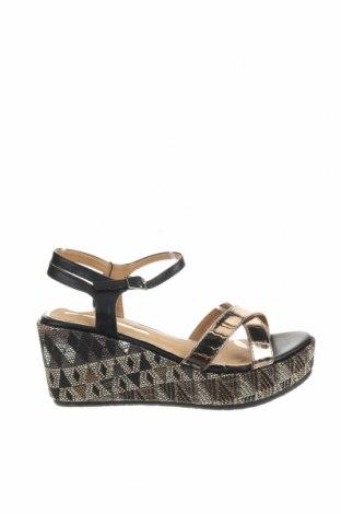Sandale Maria Mare, Mărime 38, Culoare Auriu, Piele ecologică, Preț 91,22 Lei
