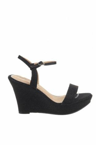Sandale Maria Mare, Mărime 41, Culoare Negru, Textil, Preț 85,40 Lei