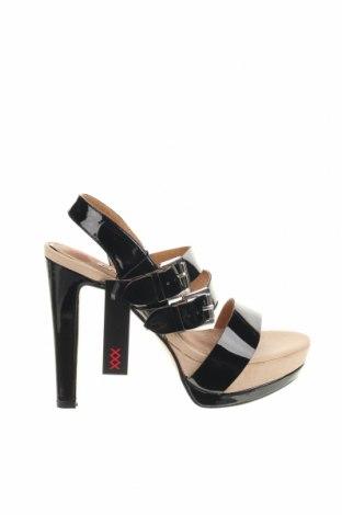 Σανδάλια Maria Mare, Μέγεθος 37, Χρώμα Μαύρο, Δερματίνη, Τιμή 15,20€