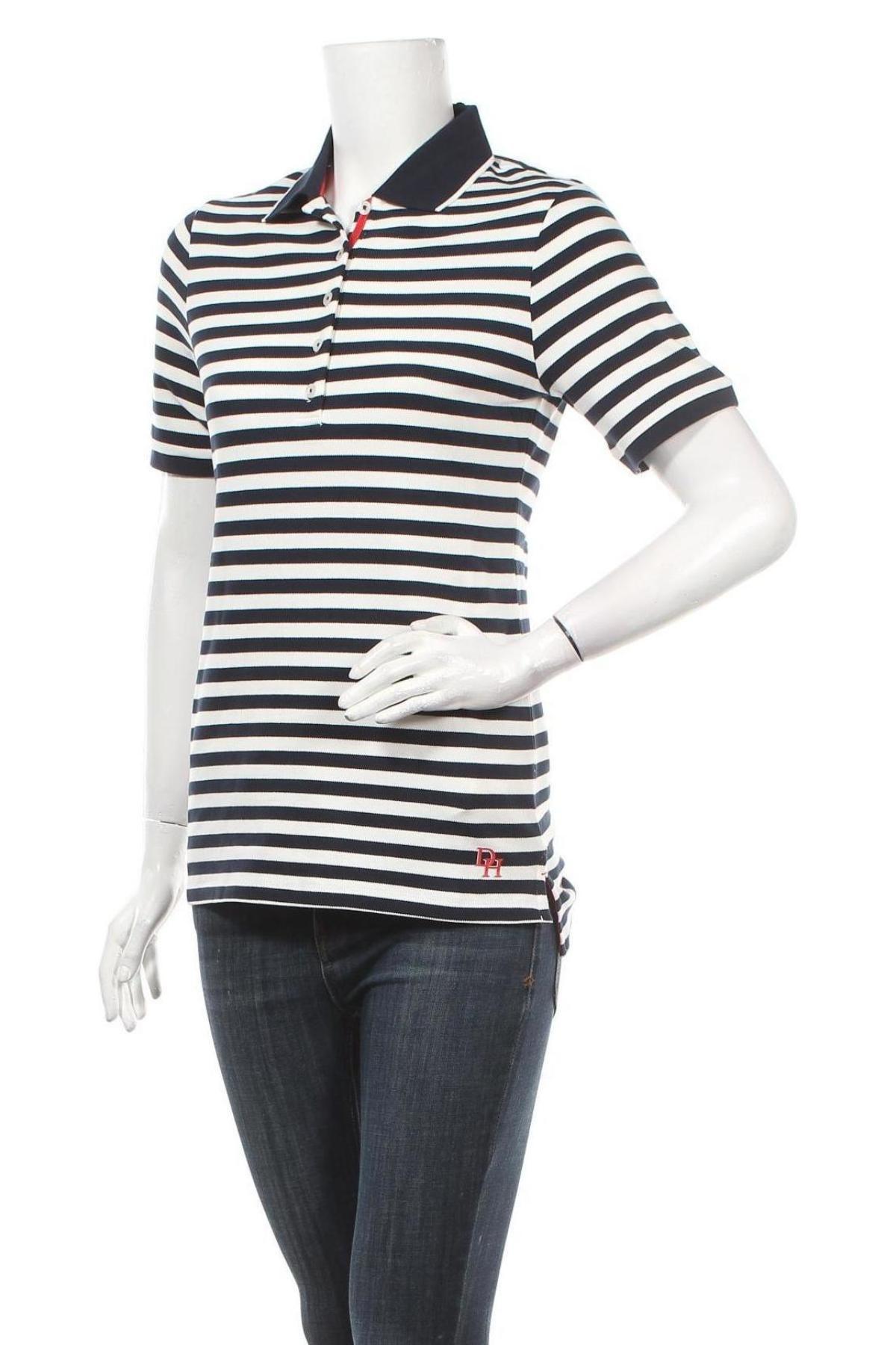 Дамска тениска Daniel Hechter, Размер XS, Цвят Бял, 95% памук, 5% еластан, Цена 21,76лв.