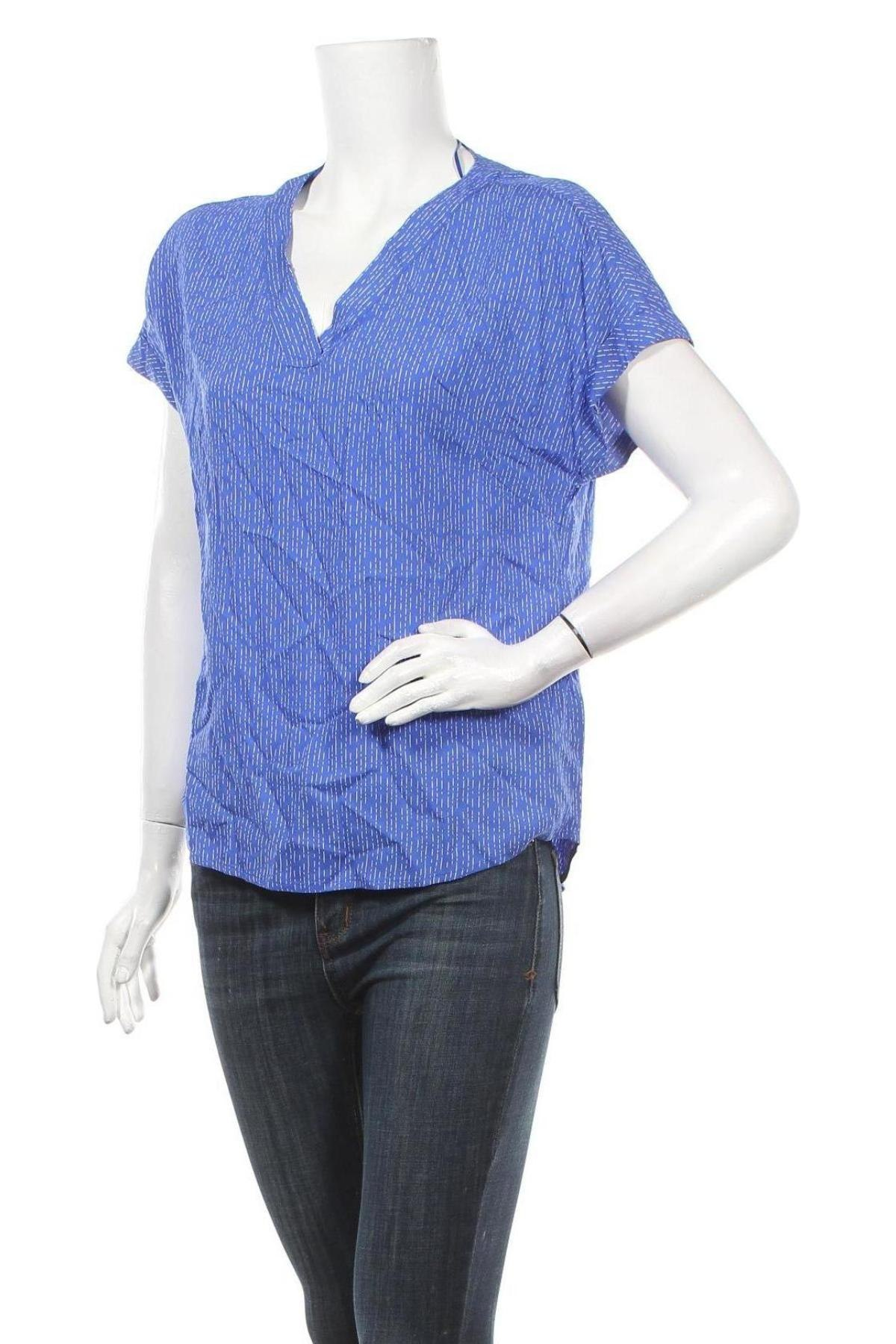 Γυναικεία μπλούζα Tom Tailor, Μέγεθος S, Χρώμα Μπλέ, Βισκόζη, Τιμή 22,81€
