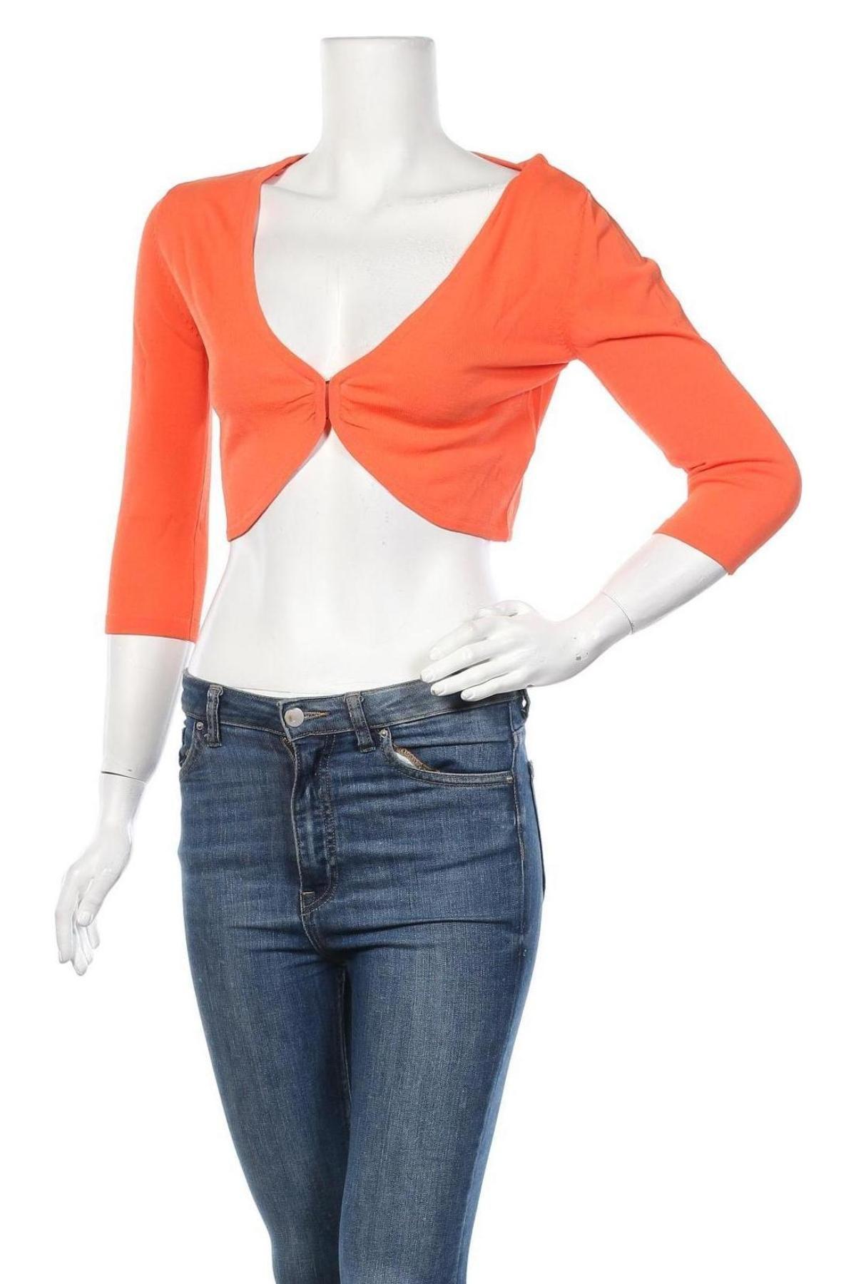 Дамска жилетка Jake*s, Размер M, Цвят Оранжев, 68% вискоза, 32% полиамид, Цена 12,24лв.